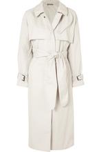 Bottega Veneta | Bottega Veneta - Cotton-blend Gabardine Trench Coat - Off-white | Clouty
