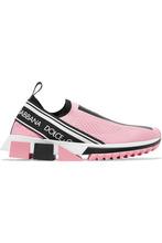 Dolce & Gabbana | Dolce & Gabbana - Sorrento Logo-print Mesh Sneakers - Pink | Clouty