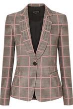 Giorgio Armani | Giorgio Armani - Checked Woven Blazer - Pink | Clouty