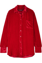 Sies Marjan | Sies Marjan - Sander Silk And Cotton-blend Corduroy Shirt - Red | Clouty