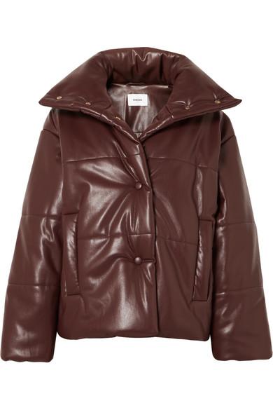 Nanushka | Nanushka - Hide Oversized Quilted Vegan Leather Jacket - Plum | Clouty