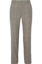 GIVENCHY | Givenchy - Houndstooth Wool-blend Straight-leg Pants - Gray | Clouty