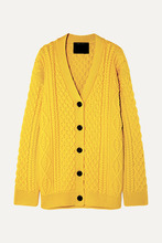 Marc Jacobs | Marc Jacobs - Cable-knit Wool Cardigan - Yellow | Clouty