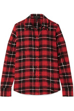 Marc Jacobs | Marc Jacobs - Plaid Silk Crepe De Chine Shirt - Red | Clouty