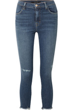 J Brand | J Brand - Alana Cropped Distressed High-rise Skinny Jeans - Mid denim | Clouty