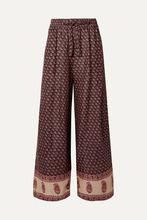 Zimmermann | Zimmermann - Jaya Printed Linen Pants - Burgundy | Clouty