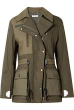 Altuzarra | Altuzarra - Chet Quilted Shell-paneled Cotton-twill Jacket - Army green | Clouty