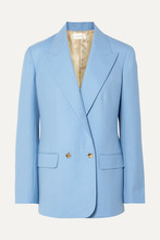 The Row | The Row - Pesner Oversized Grain De Poudre Wool Blazer - Light blue | Clouty