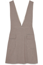 See by Chloé   See By Chloe - Checked Woven Mini Dress - Beige   Clouty
