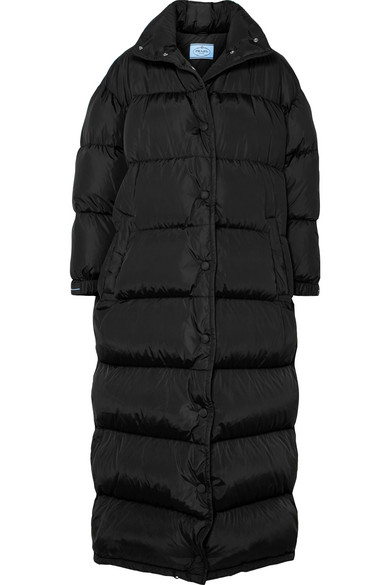 PRADA | Prada - Quilted Shell Coat - Black | Clouty