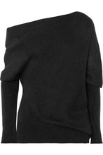 Tom Ford   TOM FORD - One-shoulder Mohair And Silk-blend Sweater - Black   Clouty