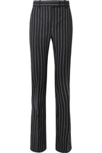 Tom Ford | TOM FORD - Pinstriped Wool Flared Pants - Black | Clouty