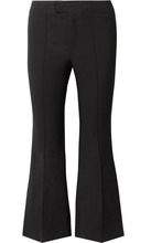 Isabel Marant | Isabel Marant - Nyree Cropped Cotton-blend Flared Pants - Black | Clouty