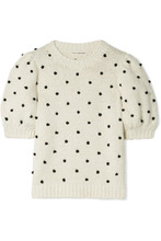 Ulla Johnson | Ulla Johnson - Bettine Pompom-embellished Cotton Sweater - Cream | Clouty