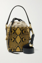 Chloé | Chloe - Roy Mini Snake-effect Leather Bucket Bag - Snake print | Clouty