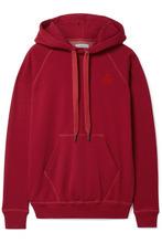 Isabel Marant Étoile | Isabel Marant Etoile - Malibu Flocked Cotton-blend Jersey Hoodie - Red | Clouty