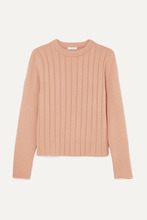 Chloé | Chloe - Ribbed Cashmere Sweater - Peach | Clouty