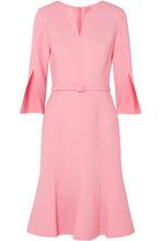 Oscar De La Renta | Oscar de la Renta - Belted Wool-blend Dress - Baby pink | Clouty