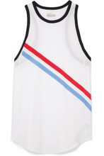 Lndr | LNDR - Warm Up Striped Cotton-jersey Tank - White | Clouty