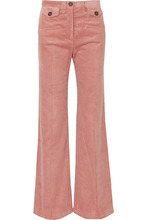 ALEXACHUNG | ALEXACHUNG - Cotton-blend Corduroy Bootcut Pants - Pink | Clouty