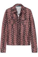 ALEXACHUNG | ALEXACHUNG - Snake-print Satin-jersey Top - Pink | Clouty