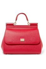 Dolce & Gabbana | Dolce & Gabbana - Sicily Medium Textured-leather Tote - one size | Clouty