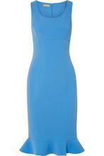 MICHAEL KORS | Michael Kors Collection - Ruffled Stretch-wool Crepe Dress - Light blue | Clouty