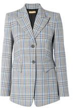 MICHAEL KORS | Michael Kors Collection - Plaid Wool Blazer - Blue | Clouty