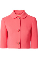 MICHAEL KORS | Michael Kors Collection - Stretch-wool Boucle Jacket - Bubblegum | Clouty