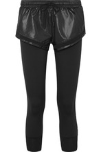 adidas by Stella McCartney | adidas by Stella McCartney - Performance Essentials Layered Glossed-shell And Stretch Leggings - Black | Clouty