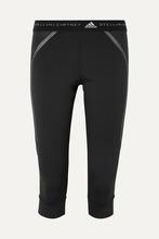 adidas by Stella McCartney | adidas by Stella McCartney - Run 3/4 Cropped Mesh-paneled Stretch Leggings - Black | Clouty