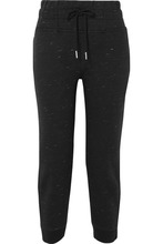 adidas by Stella McCartney | adidas by Stella McCartney - Essentials Marled Organic Cotton-blend Jersey Track Pants - Black | Clouty