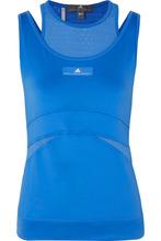 adidas by Stella McCartney | adidas by Stella McCartney - + Parley Layered Stretch-jersey And Mesh Tank - Blue | Clouty