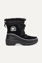 Sorel | Sorel - Torino Faux Fur-trimmed Waterproof Suede, Shell And Leather Ankle Boots - Black | Clouty