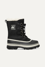 Sorel | Sorel - Caribou Waterproof Nubuck And Rubber Boots - Black | Clouty