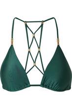 Vix | ViX - Lucy Embellished Triangle Bikini Top - Emerald | Clouty