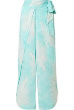 Vix | ViX - Liz Printed Voile Pants - Turquoise | Clouty