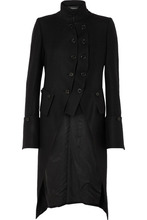 Ann Demeulemeester | Ann Demeulemeester - Layered Double-breasted Wool Coat - Black | Clouty