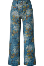 KENZO | KENZO - Floral-print High-rise Straight-leg Jeans - Blue | Clouty