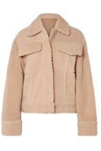 KENZO | KENZO - Trucker Reversible Shearling Jacket - Beige | Clouty