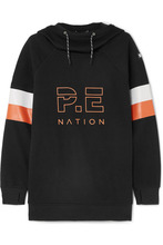 P.E Nation | P.E NATION - + Dc Printed Stretch-jersey Hoodie - Black | Clouty