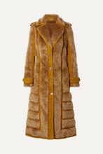 Acne Studios   Acne Studios - Faux Fur-trimmed Boucle Coat - Saffron   Clouty
