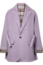 Acne Studios | Acne Studios - Oversized Belted Cotton-felt Blazer - Lilac | Clouty