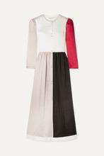 Rejina Pyo | REJINA PYO - Quinn Color-block Washed-satin Maxi Dress - Beige | Clouty
