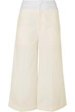 Rejina Pyo | REJINA PYO - Tate Cotton-blend And Poplin Wide-leg Pants - Ivory | Clouty