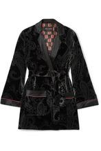 Etro | Etro - Satin-trimmed Printed Velvet Jacket - Black | Clouty