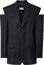 Maison Margiela | Maison Margiela - Oversized Cutout Wool Blazer - Black | Clouty