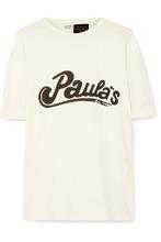 Loewe | Loewe - + Paula's Ibiza Oversized Printed Cotton And Silk-blend Jersey T-shirt - Ivory | Clouty