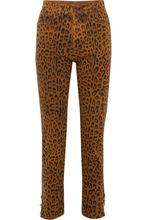 SAINT LAURENT   Saint Laurent - Leopard-print High-rise Slim-leg Jeans - Leopard print   Clouty