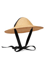 CLYDE | CLYDE - Adriatic Cotton-trimmed Straw Hat - Ivory | Clouty